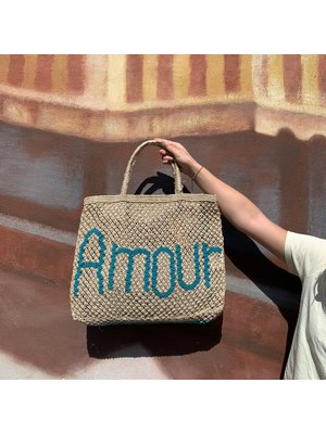 the Jacksons Shopper Jute L Amour natural/turquoise