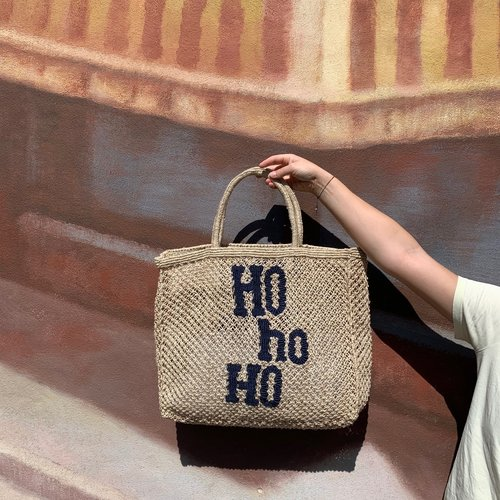 the Jacksons Shopper Jute L Ho Ho natural/indigo