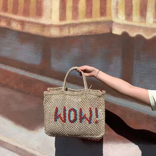 the Jacksons Shopper Jute S Wow! natural/turquoise/red