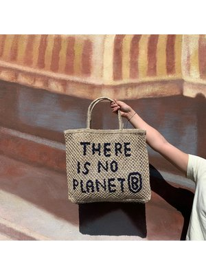the Jacksons Shopper Jute L There is No Planet B natural/indigo