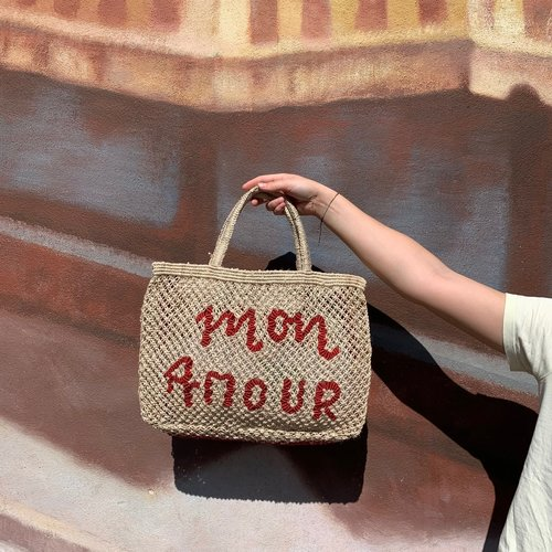 the Jacksons Shopper Jute S Mon Amour natural/red