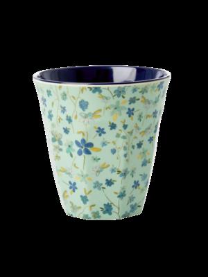 Rice Melamine beker Blue Floral