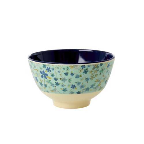 Rice Melamine kom small Blue Floral