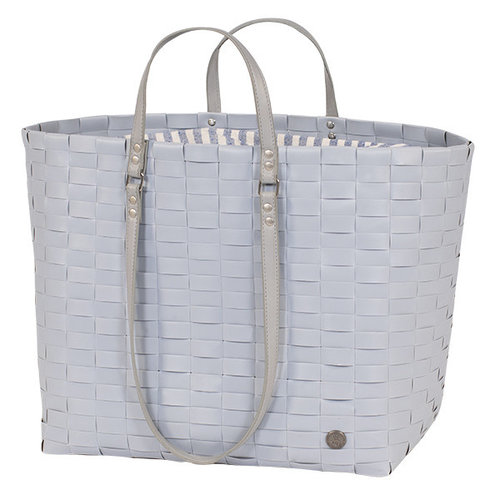 Handed By Shopper Go! Leisure bag L fat strap steel grey