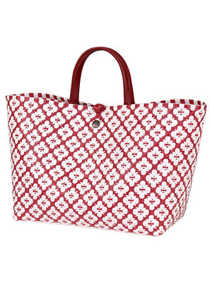 Handed By Shopper Motif L marsala red/white