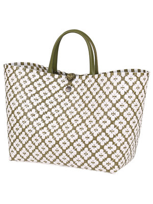 Handed By Shopper Motif L olive/white