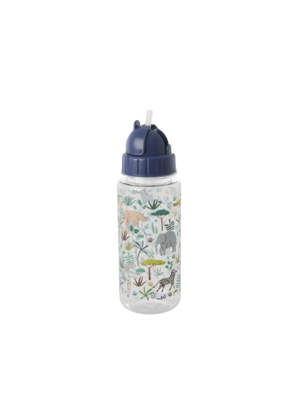 Rice Drinkfles plastic Jungle Animals groen