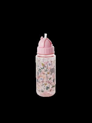 Rice Drinkfles plastic 500ml Jungle Animals roze