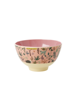 Rice Melamine kom S All Over Jungle Animals coral
