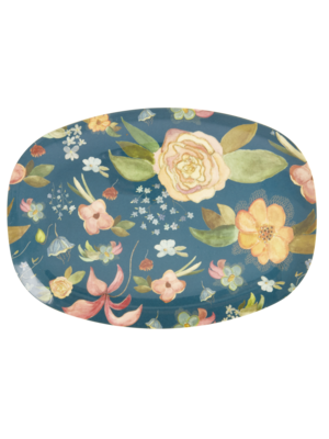 Rice Melamine ovaal bord Selma's Fall Flower
