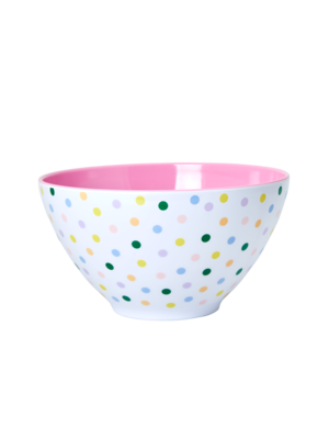 Rice Melamine Salade kom 'Let's Summer' Dots