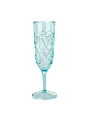 Rice Champagne glas acryl Swirly mint