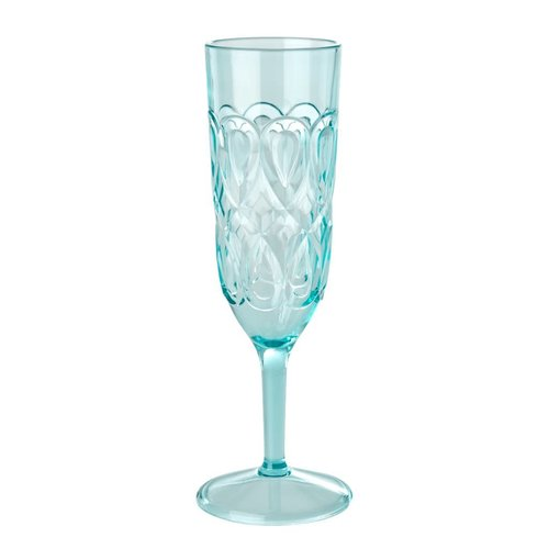 Rice Champagne glas Swirly mint