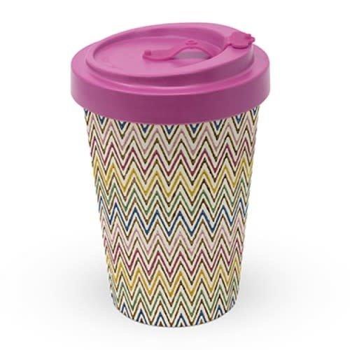 PPD To Go Beker / Travel mug Zig Zag Multicolore