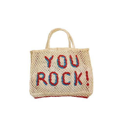 the Jacksons Shopper Jute S You Rock! natural/turquoise/red