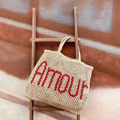 the Jacksons Shopper Jute L Amour natural/red