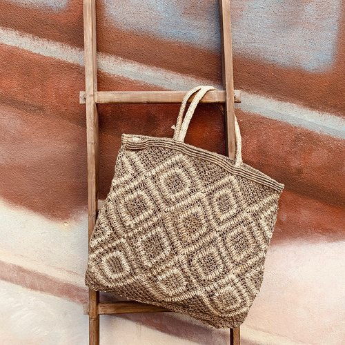 the Jacksons Shopper Jute L Ingrid khaki/natural
