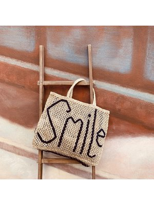 the Jacksons Shopper Jute L Smile natural/indigo