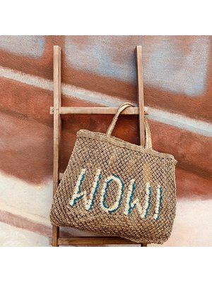 the Jacksons Shopper Jute L Wow khaki/ocean/natural