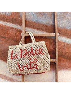 the Jacksons Shopper Jute S La Dolce Vita natural/red