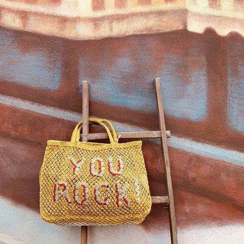 the Jacksons Shopper Jute S You rock! yellow/spice/natural