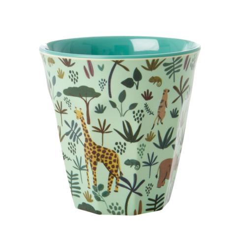 Rice Melamine beker All over Jungle green