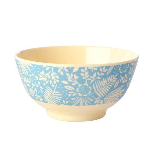 Rice Melamine kom Fern & Flower blue