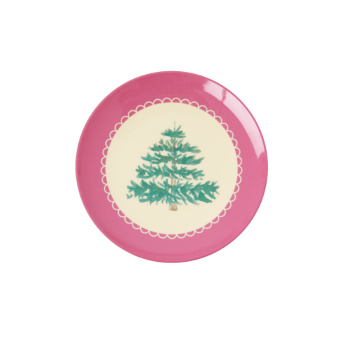 Rice Melamine dessert bord Christmas Tree
