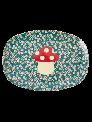 Rice Melamine oval plate Mushroom