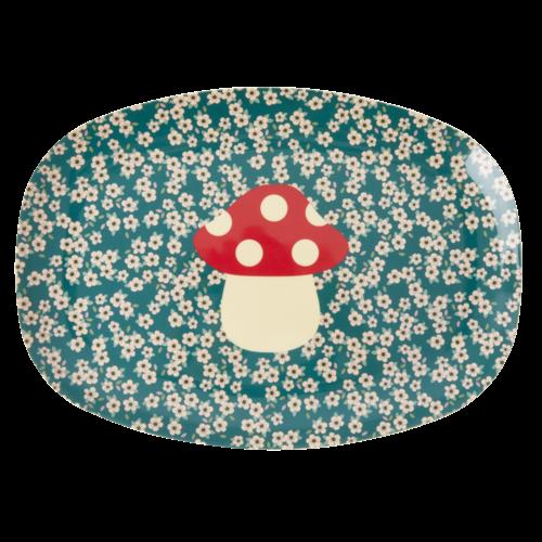 Rice Melamine ovaal bord Mushroom  / Paddestoel
