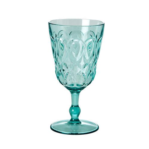 Rice Wijnglas acryl mint