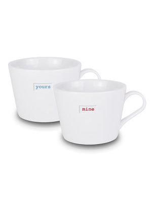 Keith Brymer Jones Bucket Mug Mini s/2 Yours Mine