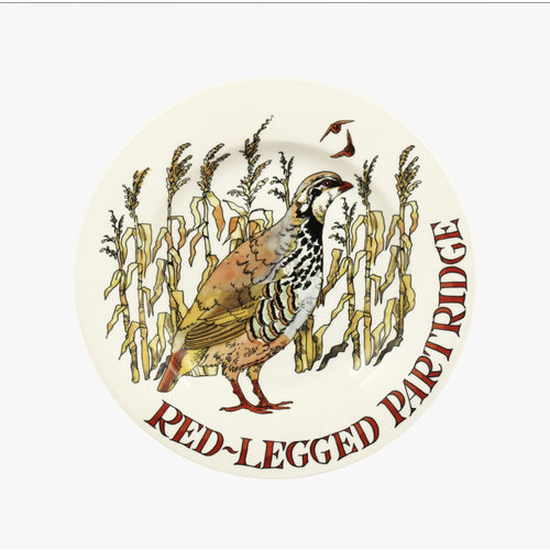 Emma Bridgewater 8.5 Plate Red Legged Partridge