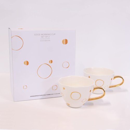 Urban Nature Culture Kop Good Morning Circle Gold set/2  - Special Edition