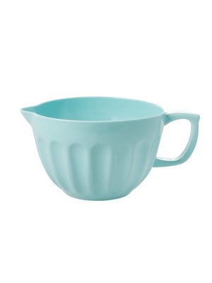 Rice Melamine kom met tuit ice blue