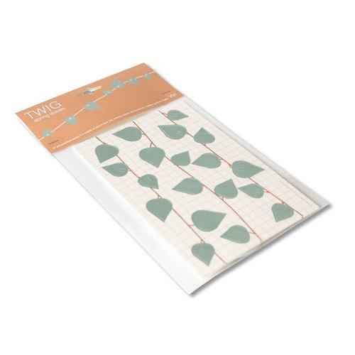 Jurianne Matter Twig Spring Leaves grijsblauw