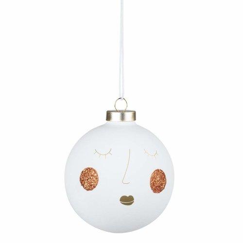 Räder Kerstbal Buddies wit large Susi