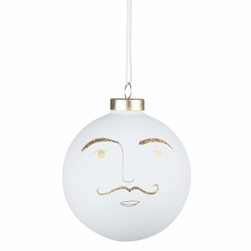 Räder Kerstbal Buddies wit large Hartmut
