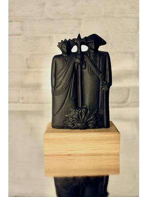 Studio Mansvelders Statue Valuas & Guntrud 2.0 anthracite black