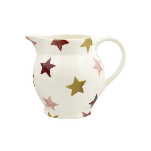 Emma Bridgewater 0.5 pt Jug Pink & Gold Stars