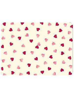 Emma Bridgewater Placemat Pink Hearts - per 1 stuk