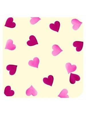 Emma Bridgewater Onderzetter s/4 Pink Hearts