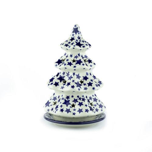 Bunzlau Castle Kerstboom theelichthouder 22cm White Stars