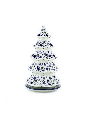 Bunzlau Castle Kerstboom theelichthouder 25cm White Stars