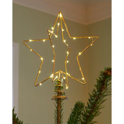 Sirius Christmas Tree Top h25cm goud