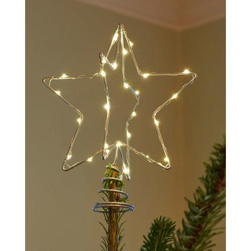 Sirius Christmas Tree Top h25cm zilver