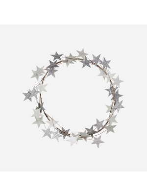 House Doctor Krans Wreath Star silver