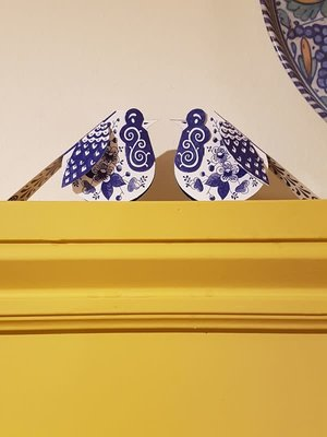 Piet Design Delfts blauwe Roodborstje