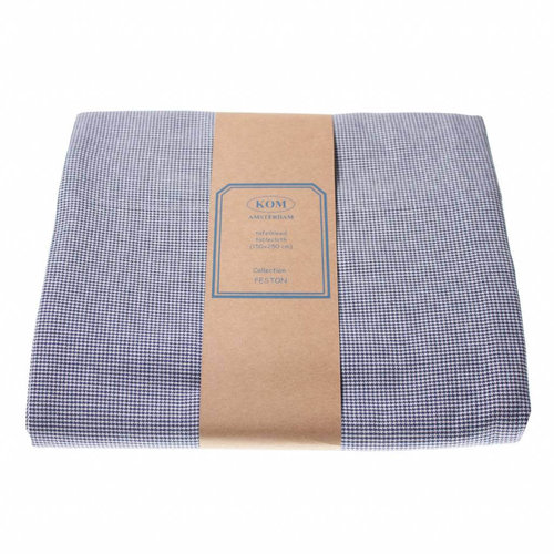Tafellaken 150x250cm Feston Grid blue