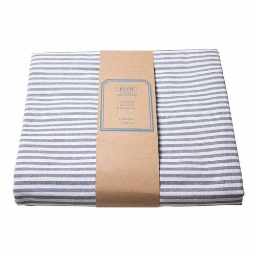 Tafellaken 150x250cm Feston Stripe blue